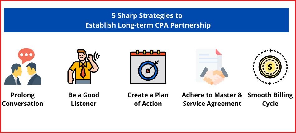 list of Strategies to Establish Long-term CPA Partnership