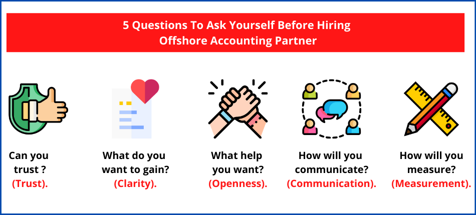 List of 5 Questions you can ask before hiring offshore accounting partner