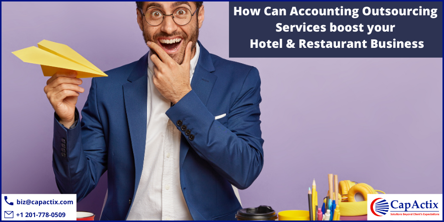 A man showing that accounting outsourcing service boost hotel and restaurant business